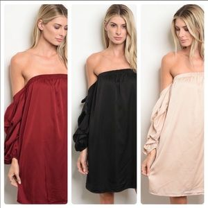 NWT Love riche Off the Shoulder Dress